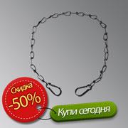 Страховочная цепь steel safety cable black